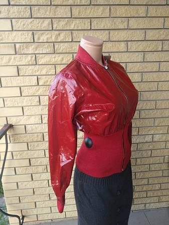 Куртка женская демисезонна лаковая с широким поясом POP ELITE, фото 2