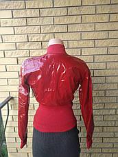 Куртка женская демисезонна лаковая с широким поясом POP ELITE, фото 3