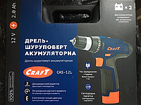 Шуруповерт аккумуляторный  Craft CAS-12L 2.0А, фото 1