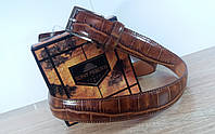 Кожаный ремень Tony Perotti (Италия) под рептилию