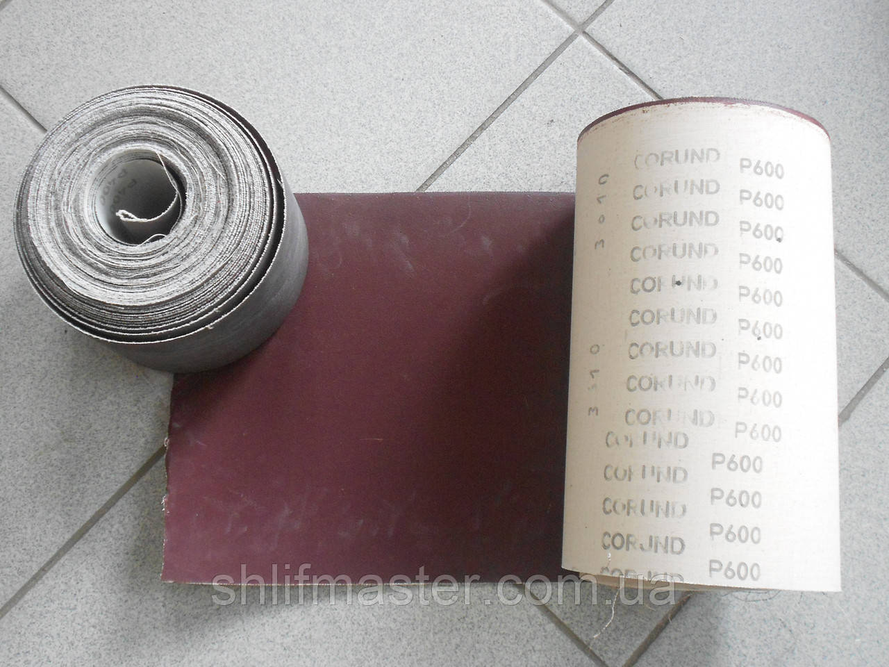 Шкурка шлифовальная ЗАК электрокорунд Р600 на основе особо гибкой х/б ткани 250 мм