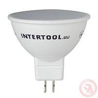 Светодиодная лампа LED MR16, GU5.3, 5Вт, 150-300В, 4000K, 30000ч, гарантия 3года INTERTOOL LL-0202