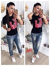 Женская футболка люкс качества с оригинальной накаткой 42-46 р, фото 3