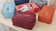 Органайзер - сумочка для обуви. Голубой, фото 3