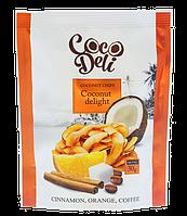 Чипсы кокосовые со вкусом апельсина корицы и кофе ТМ Coco Deli 30 г