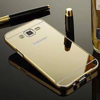 Чехол бампер зеркальный для Samsung Note 4