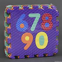 """Коврик поролон С 22976 (12) EVA, 10шт в упаковке, """"ЦИФРЫ"""" с массажным покрытием"""