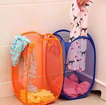 Корзина-сетка с боковыми карманами для игрушек, белья и пр., фото 3