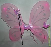 Набор для девочек розовый, крылья обруч и волшебная палочка