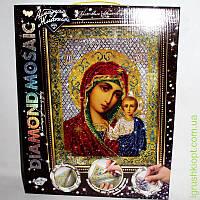 """Набор для творчества «DIAMOND MOSAIC» Алмазная живопись """"Икона Пресвятой Богородицы"""", DankO toys"""