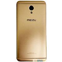 Задняя крышка Meizu M5 Note gold, оригинал, металл, сменная панель