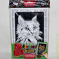 "Объёмная картина -раскраска 3D ART Антистресс ""Кошка"", DankO toys"