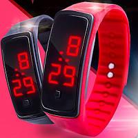 Спортивные силиконовые светодиодные часы