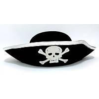 Капелюх Карнавальний Піратська Срібло пірати