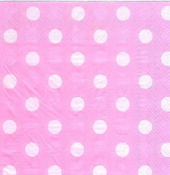 Салфетки Горох на розовом