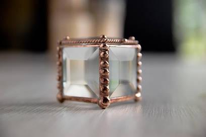 Шкатулка из стекла для предложения в технике Тиффани