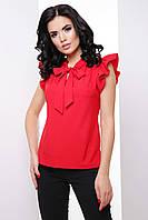Однотонная женская блуза в деловом стиле, фото 1
