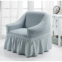 Чехол на кресло серый Турция