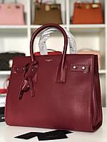 Классическая женская сумка SAINT LAURENT Sac de Jour бордо (реплика), фото 1