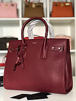 Класична жіноча сумка SAINT LAURENT Sac de Jour бордо (репліка), фото 1
