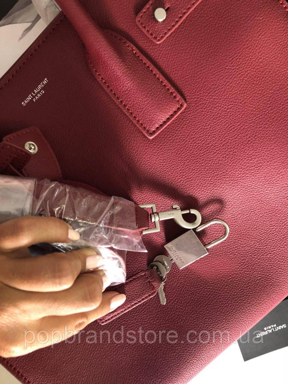 bc5243c951f3 Классическая женская сумка SAINT LAURENT Sac de Jour бордо (реплика), цена  4 000 грн., купить в Киеве — Prom.ua (ID#600448430)
