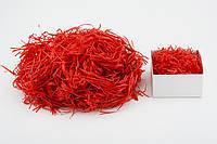 Наполнитель декоративный для упаковки подарков и товаров: бумажный, красный  25 грамм /упаковка/
