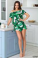 Женский костюм с шортами Банановый лист, фото 1