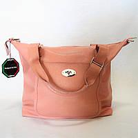 Женская сумочка кожа розового цвета WСM-097962