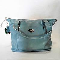 Женская сумочка кожа голубого цвета WСM-097442