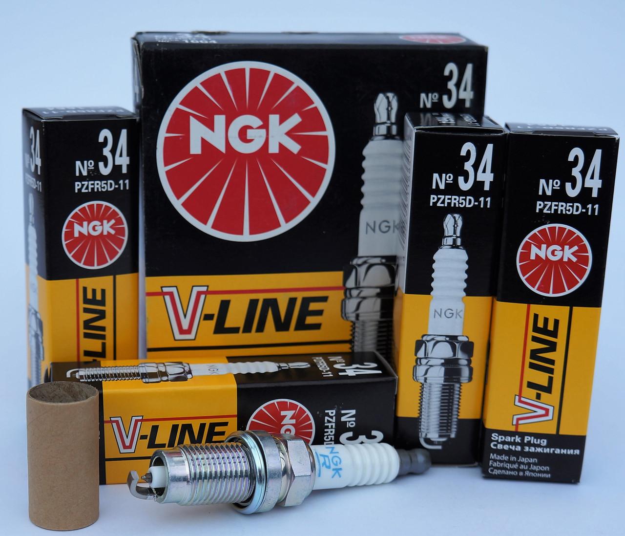 Свічки NGK V-Line 34 PZFR5D-11 /1664