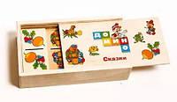 Деревянная игрушка Домино MD 0017-1 в пенале,15,5-4-9см (Сказки)