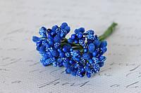 Декоративные веточки облепихи 10-12 шт/уп. синего цвета, фото 1