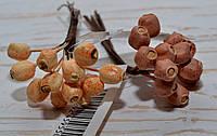 """Пучок ягод """"сухоцветов"""" оранж 12 шт"""