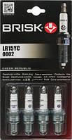Brisk Super LR15YC свечи зажигания 4 шт в блистере
