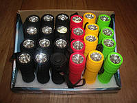 Прорезиненный фонарь 30 люмен на 9 светодиодов Plastic Flashight, фото 1