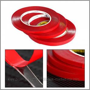 Двухсторонний скотч пеноакриловый (3 мм, 1 м, 0,07 мм) для ремонта дисплеев и тачскринов, фото 2