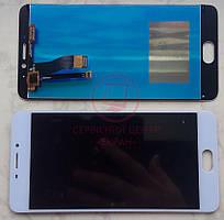 Дисплейний модуль для телефону Meizu M5 Note  в зборі з тачскріном білий