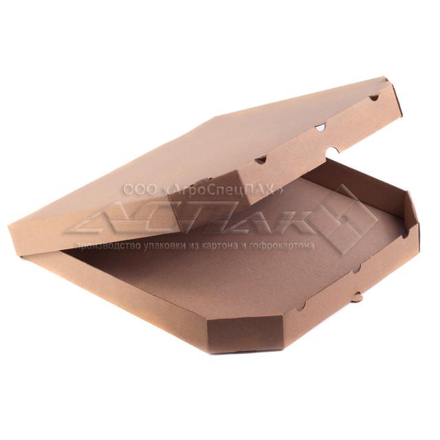 Коробки для пиццы 300х300х32 бурые, от производителя Агроспецпак. Производство коробок для пиццы. Лучшие цены. Гарантия качества. Купить коробки для пиццы оптом в Киеве. т.0676577755