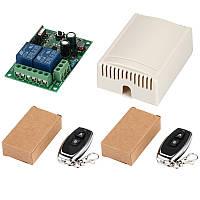 433МГц 2-х канальный беспроводной выключатель на 220В + Два пульта