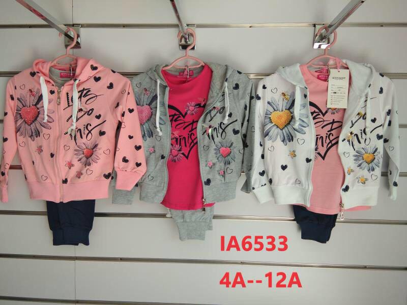 Костюмы для девочки опт, Setty Koop, размеры 4-12 лет, арт. LA 6533