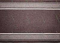Ковровая дорожка на резиновой основе Классика, цвет коричневый