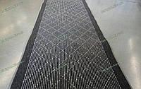 Ковровая дорожка на резиновой основе Ромбы, цвет серый