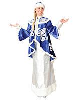 Снегурочка женский карнавальный костюм (кафтан, юбка, шапка) \ Pur - 116
