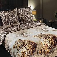 Постельное белье Леопарды, поплин 100%хлопок - Евро комплект