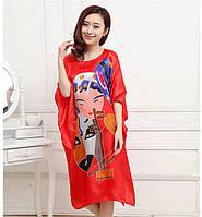 Шелковое платье кимоно маски