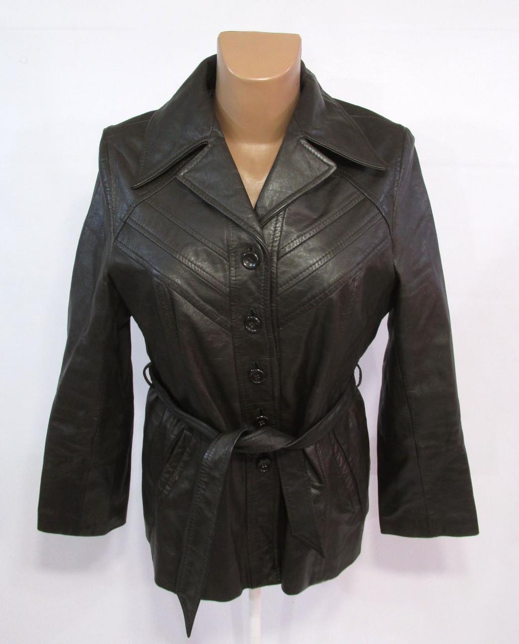 Куртка кожаная Each Leather, 44 (L, 16), коричневая, (мин потертость с