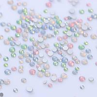 Стразы стекло Опал Mix цветов разных размеров, 1400 шт