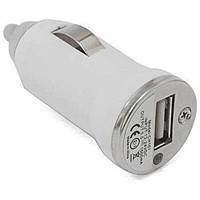 Автомобильная зарядка USB 5V, 1A, белая