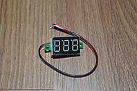 Вольтметр V20D цифровой встраиваемый постоянного тока 0-100V Красный (три провода)