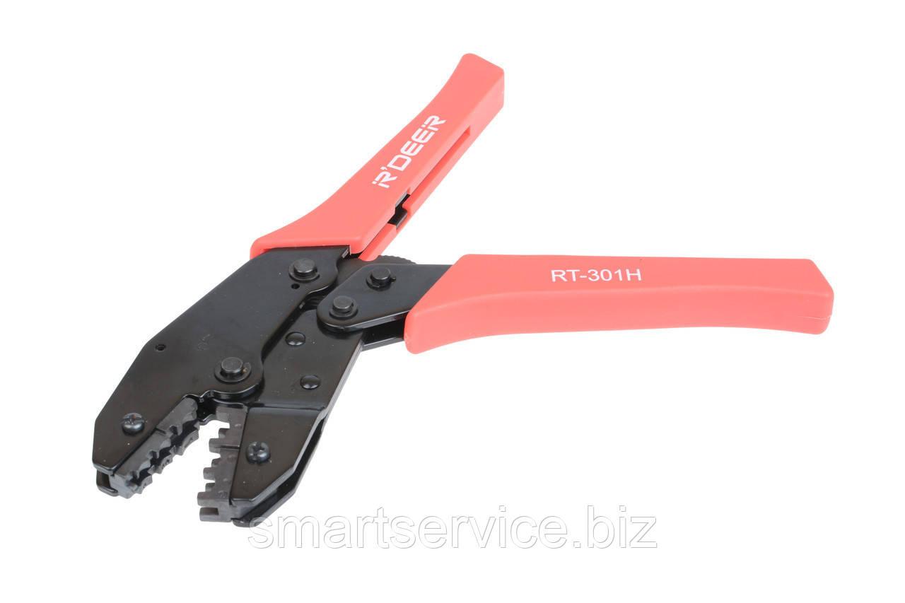 Клещи (RT-301H) для опрессовки изолированных клемм 0,5-6мм, R'Deer